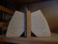 Tetbury limestone bookends with Acorn and Oak leaf design