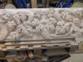 Bacchus Green man, Hand carved Portland limestone
