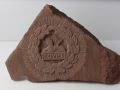 Gloster's Back Badge, hand carved Mitcheldean sandstone.