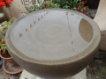 Forest of Dean sandstone birdbath