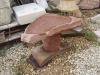 Forest of Dean sandstone birdbath. Sold  360