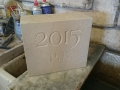 A date stone, Portland limestone. £75