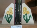 Buttercup bookends, tetbury limeston