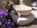 Bath stone bowl with wave form feet (sold)