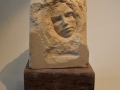 Thoughtful woman, hand carved Portland limestone. £350
