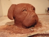 Clay model of Bull Mastiff