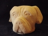 Completed carving of Bull Mastiff in Tetbury Limestone