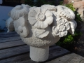 Hand carved flower bowl