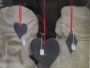 Slate Hearts, window decoration.