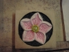 'Hellebore' carved and painted Tetbury limestone
