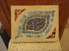 Mosaic wall plaque, 7.5x6x1.5