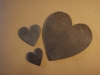 Welsh Slate Hearts from 5.00. Other sizes and initials engraved to order.