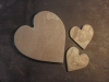 Chinese slate hearts, from £5.00. Other sizes and initials engraved to order.