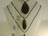 Welsh Slate, Granite and Red Jasper pendants, prices as marked.