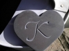 Chinese Slate Heart, unpainted.