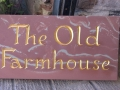 Hand carved house name in Mitheldean sandstone. Gilded.