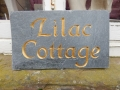 Lilac Cottage, Cornish Slate painted gold.