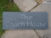 House name, Welsh slate, unpainted.
