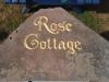 Blakeney red sandstone, gilded lettering