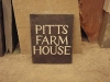 House name, Delabole slate, painted white