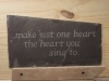 Commission for a line from a poem carved on roof slate.