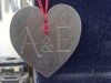 Chinese Slate heart with carved initials, £30