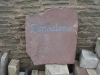 Forest of Dean Sandstone House name, painted grey/blue