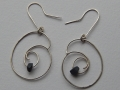 Welsh slate and Sterling silver earrings spiral