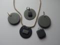 slate and silver pendants