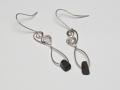 Welsh slate and Sterling silver earrings
