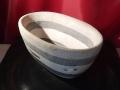 Layered stone bowl.