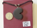 Heart shaped Welsh slate pendant with sterling silver wire