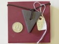 Welsh slate triangle pendant