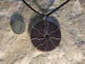 Lightening pendant, Welsh slate with sterling silver wire-same both sides.