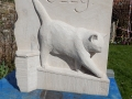 Portrait of a Cat called Ozzy. Commission carved in Portland limestone £650