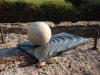 Ball in Puddle, Tetbury limestone and Delabole Slate