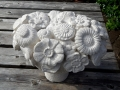 hand carved Portland limestone, Wild flower bowl.