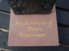Forest of Dean sandstone base with gilded lettering