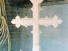 One of 2 crosses carved for Coberley Church