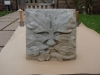 Green Man carving in Forest of Dean sandstone. 10 inches square. Commission. 250
