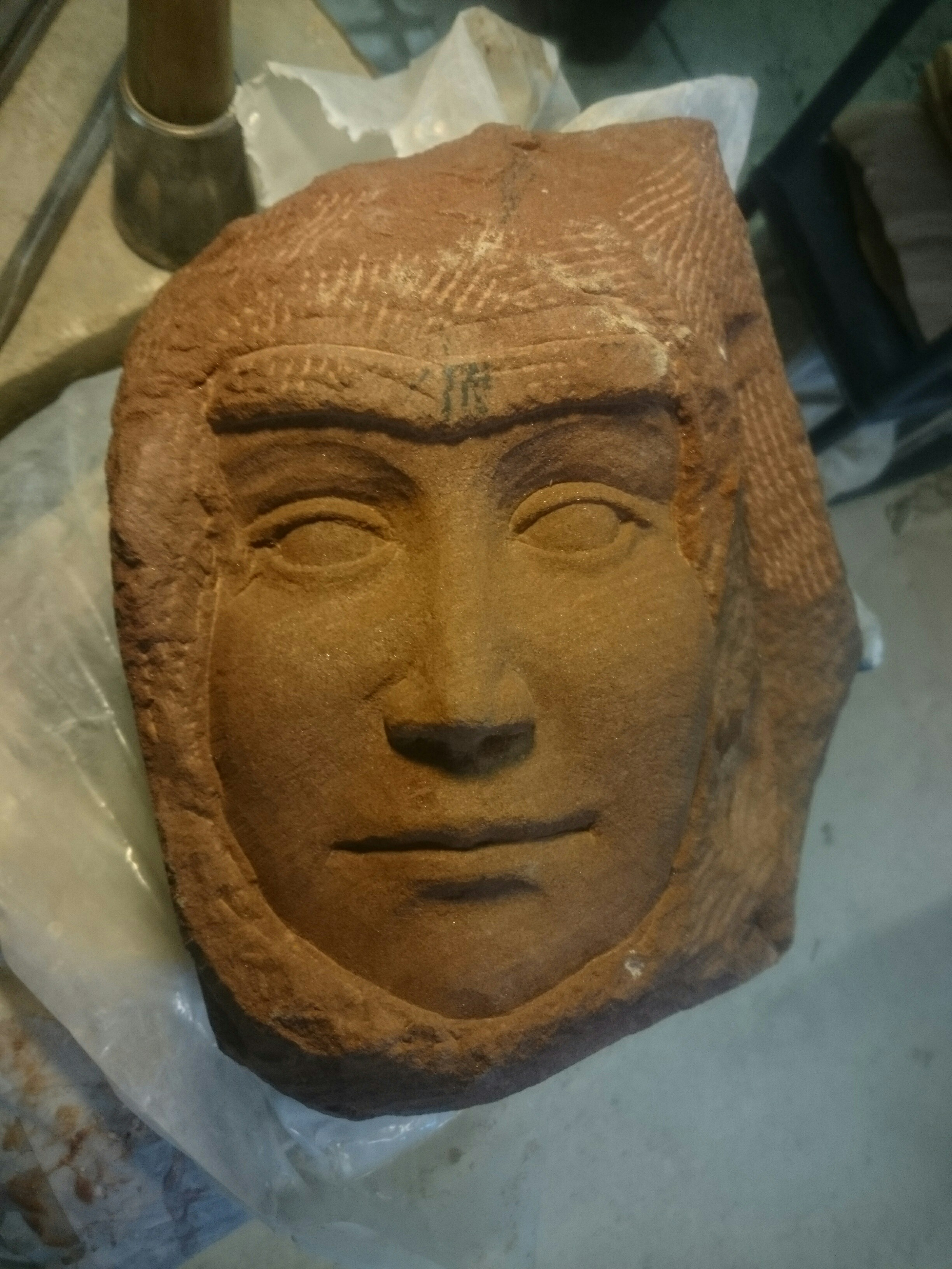 Cat s eye carving archive a face