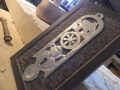 Silver Wedding Annivesary, Hand carved Welsh Slate. Shallow relief