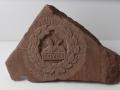 Gloster's Back Badge, hand carved Mitcheldean sandstone.