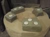 Tealight holders, Forest of Dean sandstone
