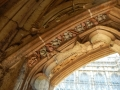 beautiful carvings of grapes and a beastie in the cloisters