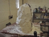 APPLYING THE SECOND LAYER OF PLASTER