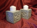 Cats-Eye-Carving-Forest-of-Dean-sandstone.-Hand-carved-Celtic-knotwork-Pillar-candle-holders-£285.