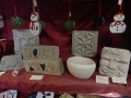 A selection of stone carvings for sale