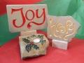 Joy, Happy and Holly and Ivy Tealight holder