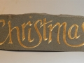 Hand carved and gilded Forest of Dean sandstone. £185